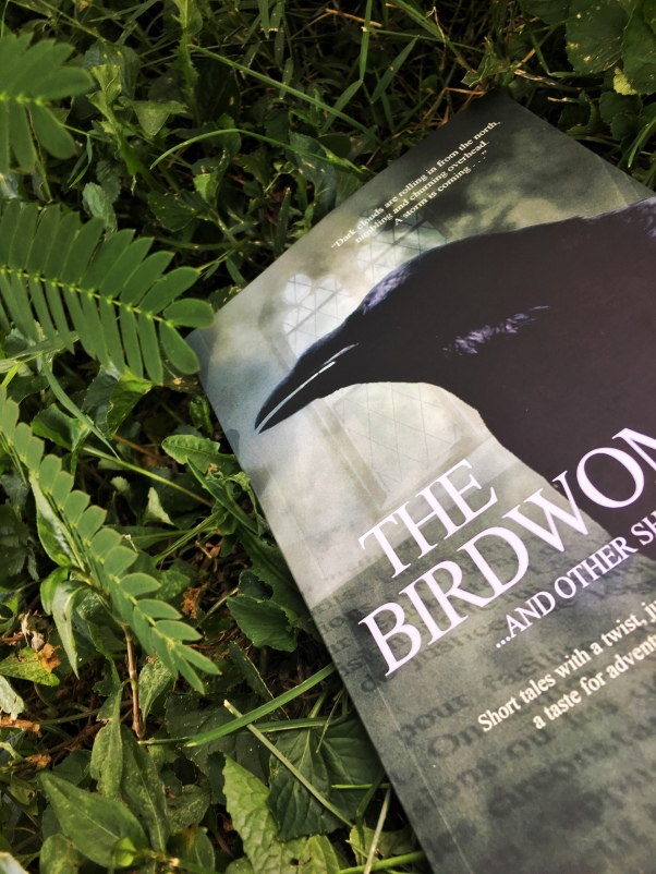 Book, The Birdwoman by A.R. Geiger and leaves